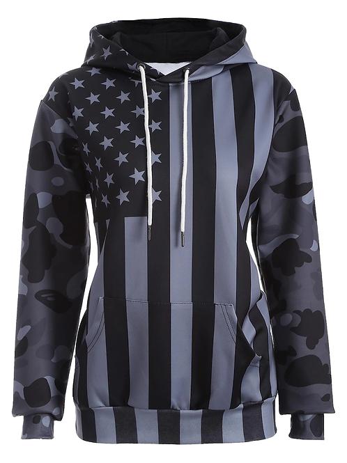 Camouflage United States Flag Hoody