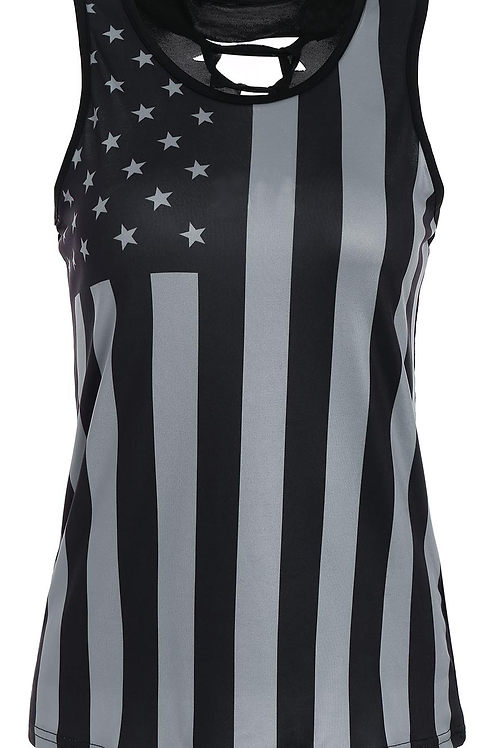 Laced Patriotic Flag Tank Top
