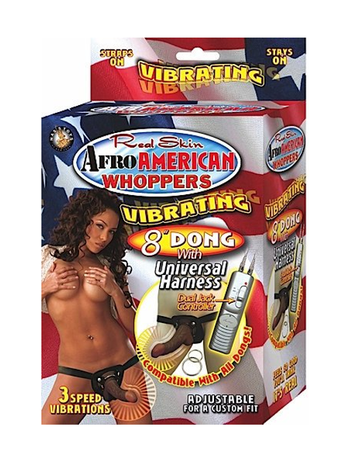 Afro American Vibrating Strap On