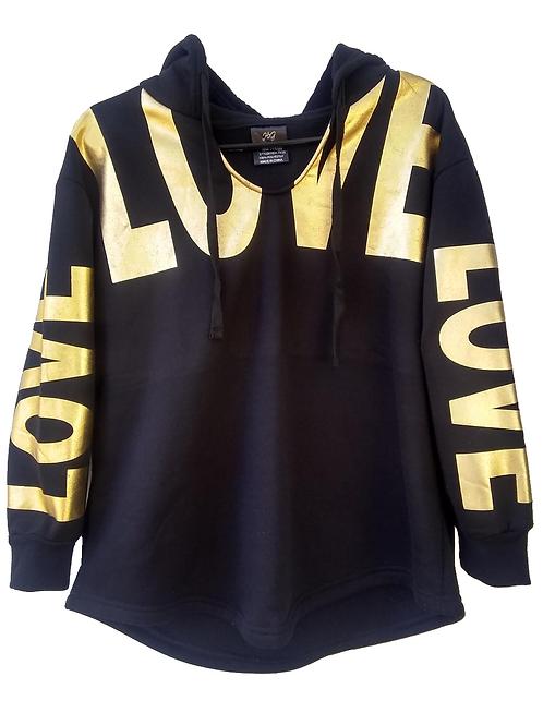 14 kt Gold Love Sweat Shirt