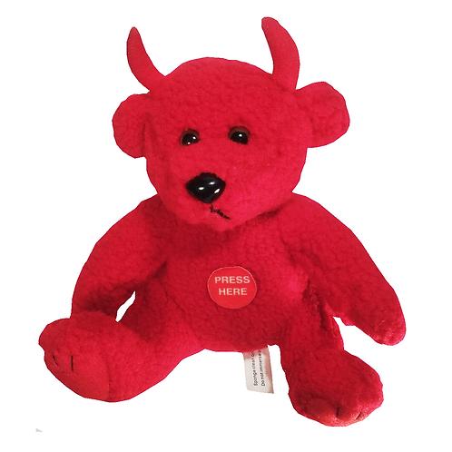 Red Talking Plush Devil