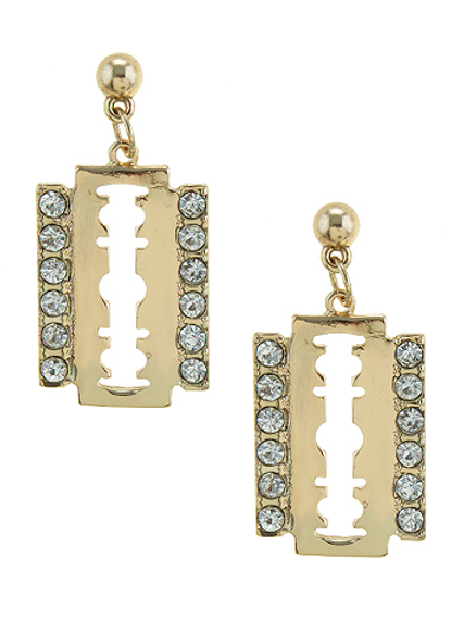 Razor Blade Diamond Earrings