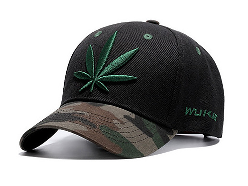 Camouflage Marijuana Snap Back