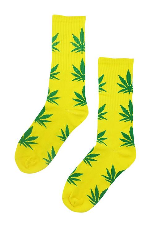 Kush Pot Leaf Tube Socks