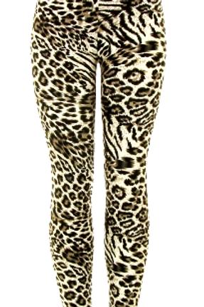 Realistic Leopard Print Leggings