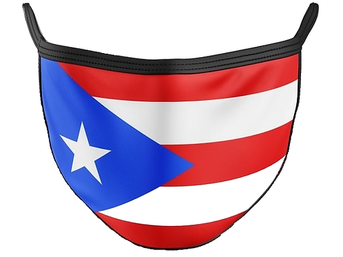 Puerto Rico Flag Face Mask