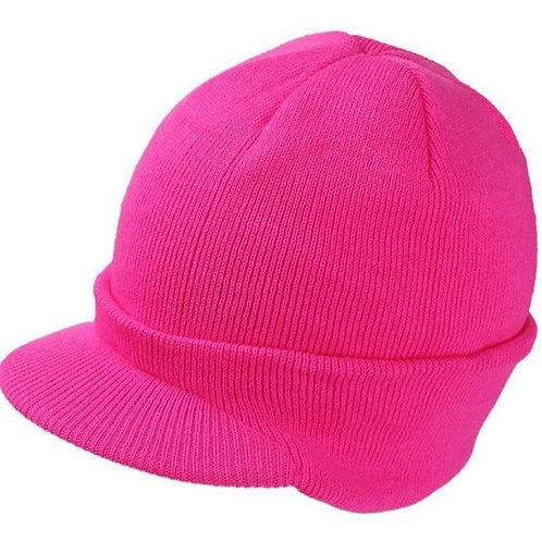Unisex Winter Beanie Visor Hat