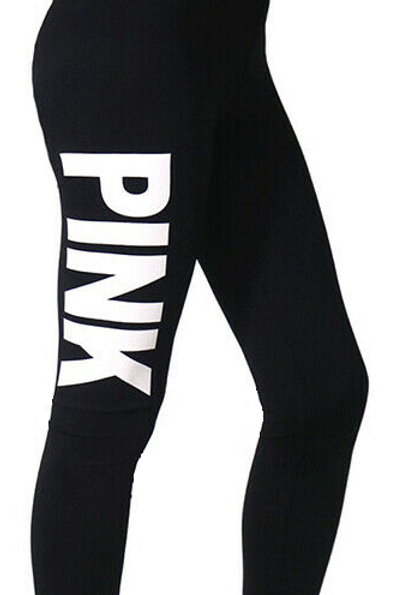 Yoga Leggings - PINK Logo