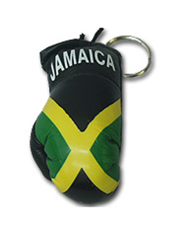 Jamaica Flag Boxing Glove Key Chain