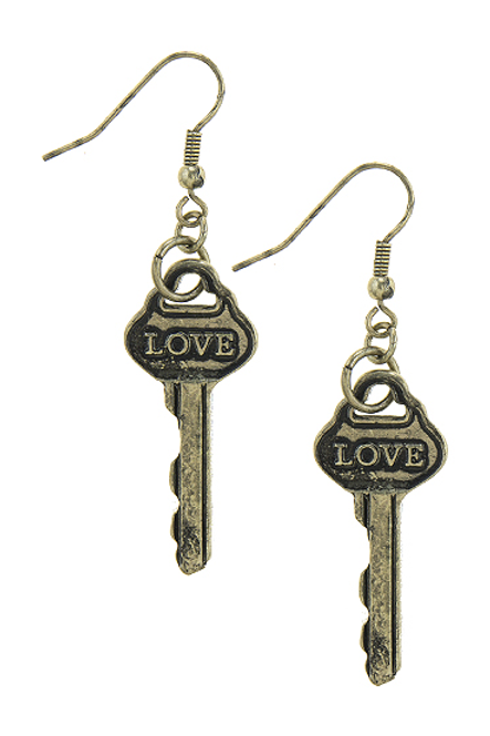 Love Key Earrings