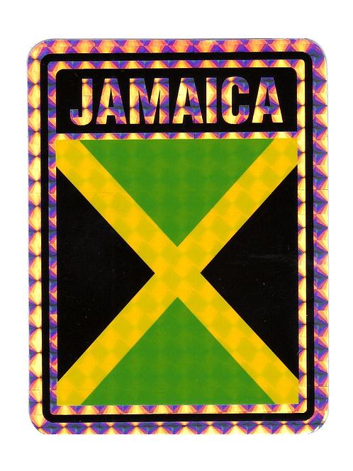 Jamaica Reflective Hologram Sticker
