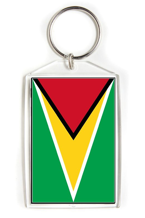 Guyana Flag Key Chain