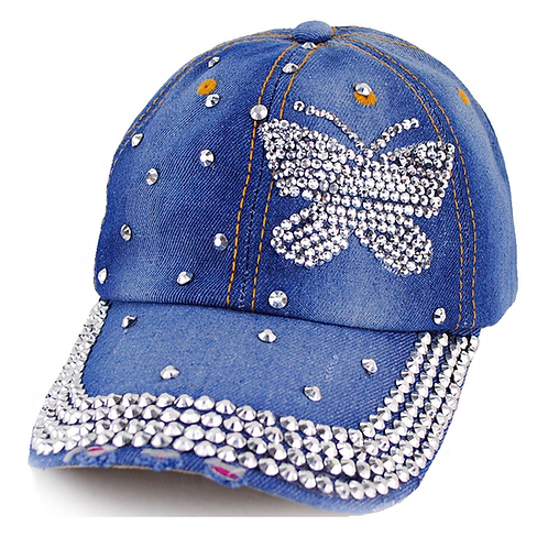 The Butterfly Denim Jeans Cap