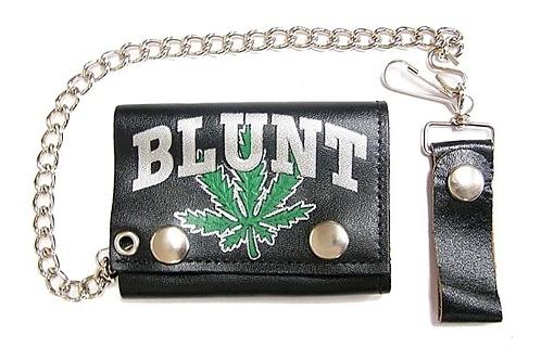Blunt Pot Leaf Leather Wallet