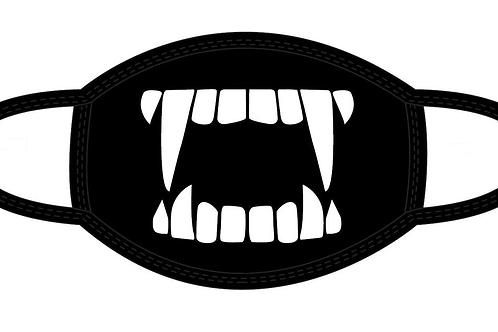 Dracula 3-D Fangs Face Mask