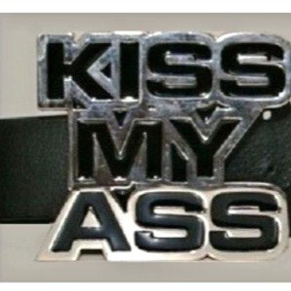 Kiss My Ass Belt Buckle