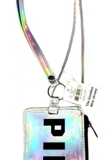 PINK Logo Holographic Credit Card - Bus Card Holder / Wallet