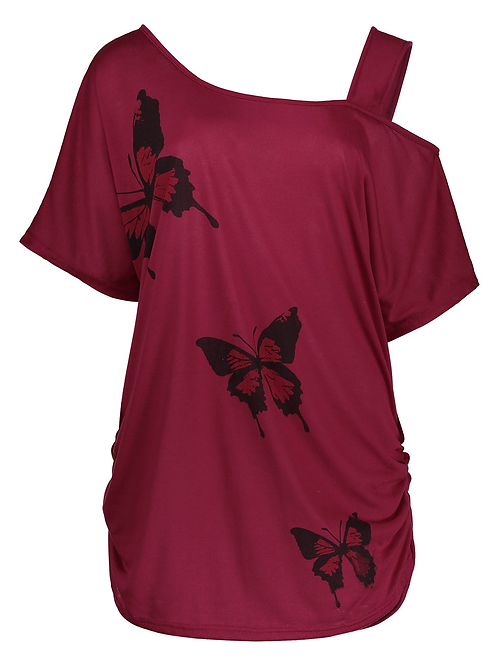 Shoulder Cut Butterfly Top