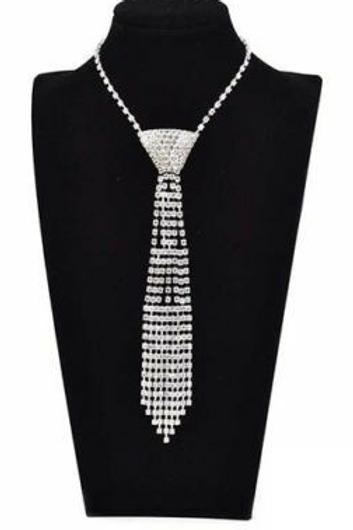 Crystal Bow Tie Necklace