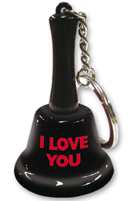 I Love You Table Bell Key Chain