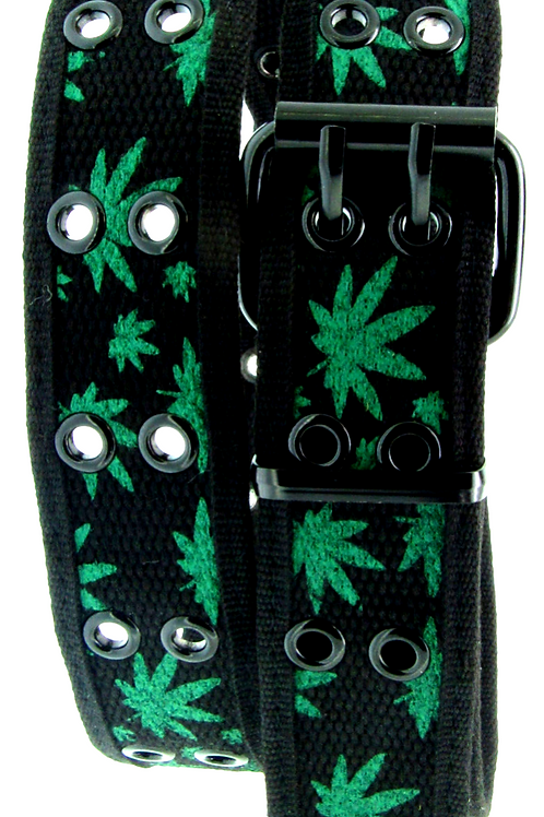 Pot Leaf Military Web Belt