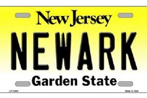 Newark New Jersey License Plate