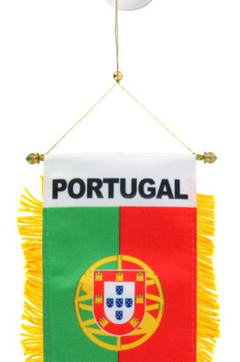 Portugal Flag Mini Car Banner