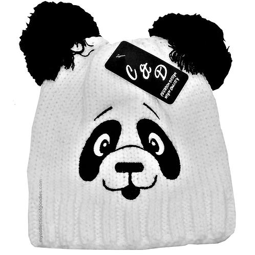 Polar Bear Double Ball Winter Beanie Hat