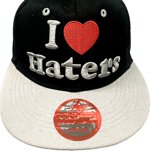 I Love Haters Snapback Baseball Caps
