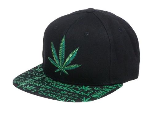 3D Marijuana Leaf Cap