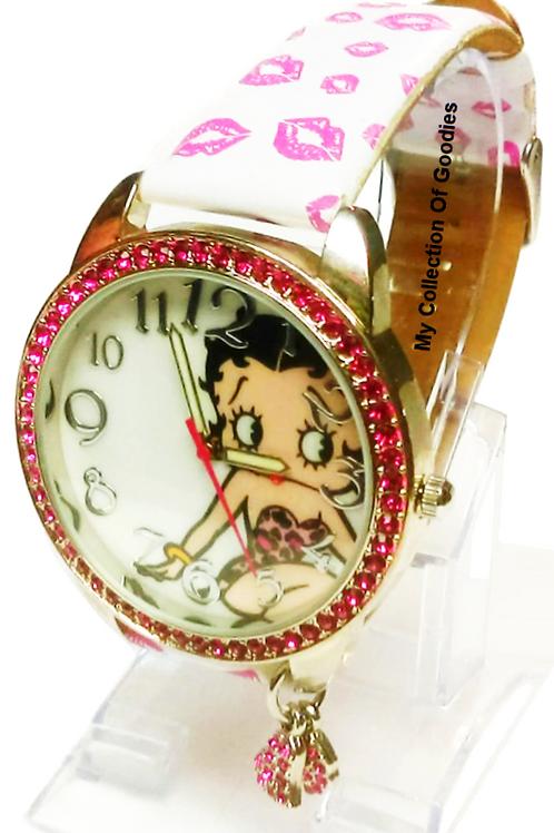Betty Boop Rhinestone Watch