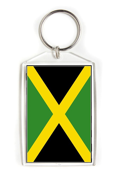 Jamaica Flag Key Chain