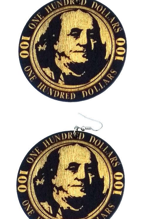 $ 100.00 Dollar Earrings
