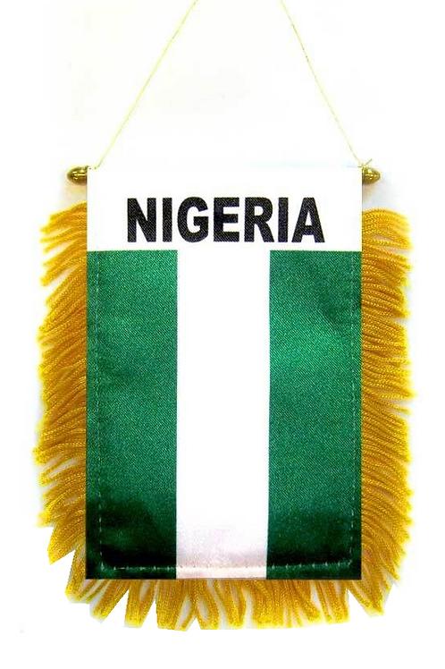 Nigeria Mini Flag Car Mirror Banner
