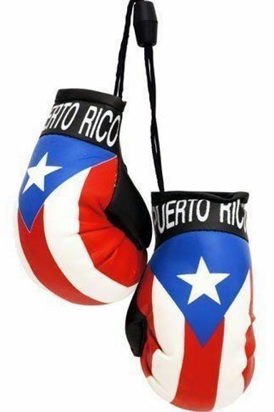 Puerto Rico Flag Mini Boxing Gloves