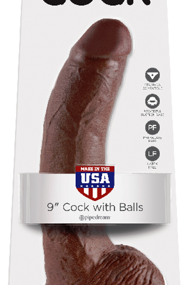 King Cock 9 Inch Suction Dildo with Balls