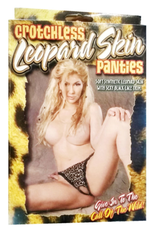 Crotchless Leopard Skin Panties