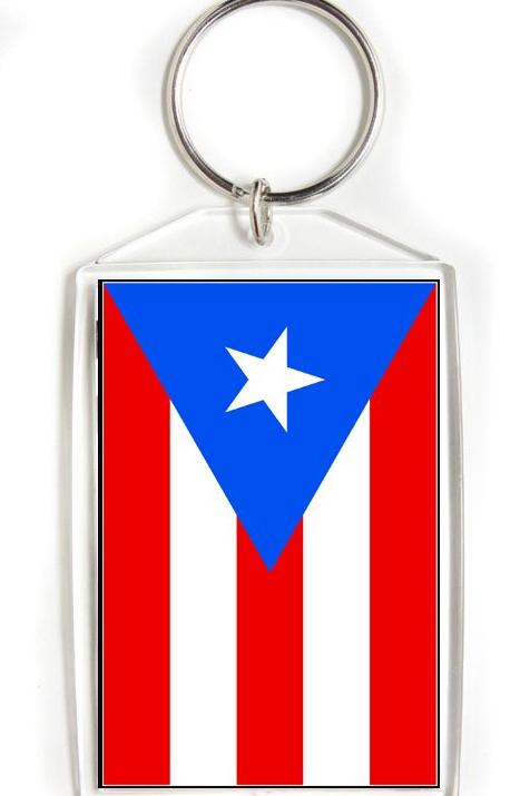 Puerto Rico Flag Key Chain