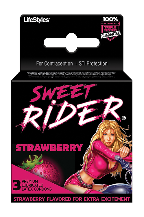 Sweet Rider Strawberry Condoms