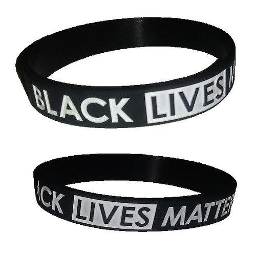 Black Lives Matter Rubber Bracelet