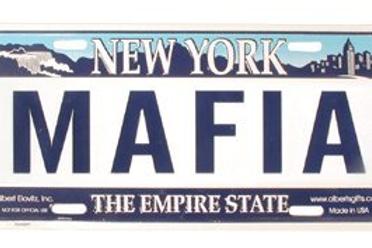 New York Mafia License Plate