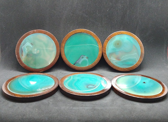 Agate & Wood Coasters