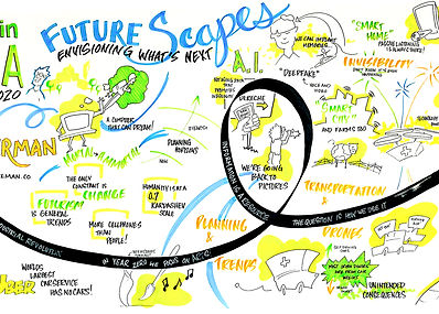Graphic Recording of Future Scapes Talk