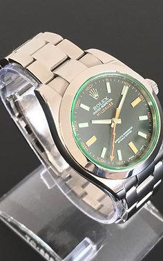2007 ROLEX Milgauss GV 116400 - Green Glass