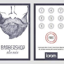 barbershop loyality card