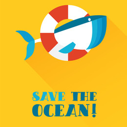 poster with whale, save the ocean flyer