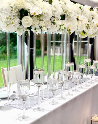 White wedding sweetheart table