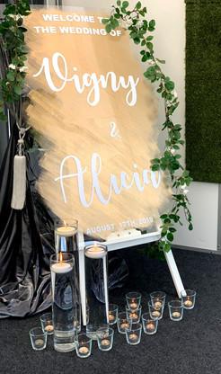 Acrylic Welcome Sign - Wedding