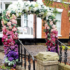 Wedding Ombre Flower Arch