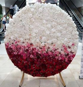 Ombre circular flower backdrop